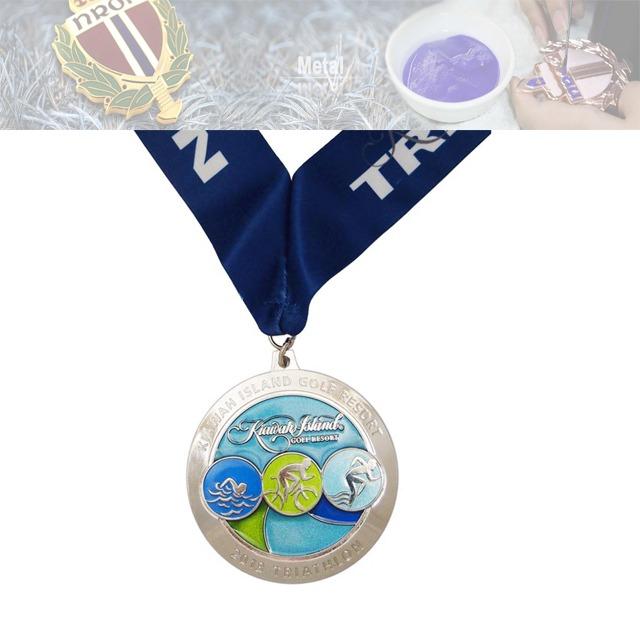 游泳比赛奖牌、自行车比赛奖牌、跑步比赛奖牌定制工厂