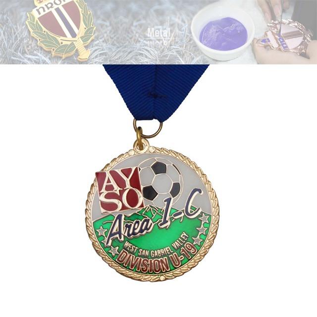 足球赛锌合金烤漆奖牌、比赛奖牌定做