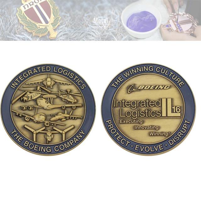 3D飞机纪念章定制、公司纪念币定制工厂