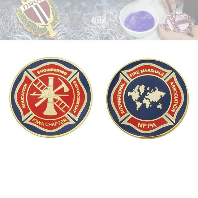 假珐琅纪念章、双面纪念币定制厂家