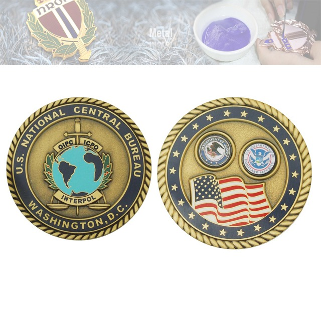 假珐琅双面纪念章、双面纪念币定制