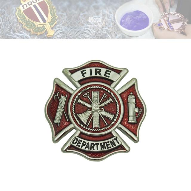 消防纪念章、假珐琅纪念章定制