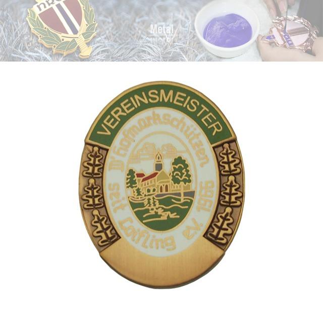 压铜假珐琅胸章、企业徽章定制