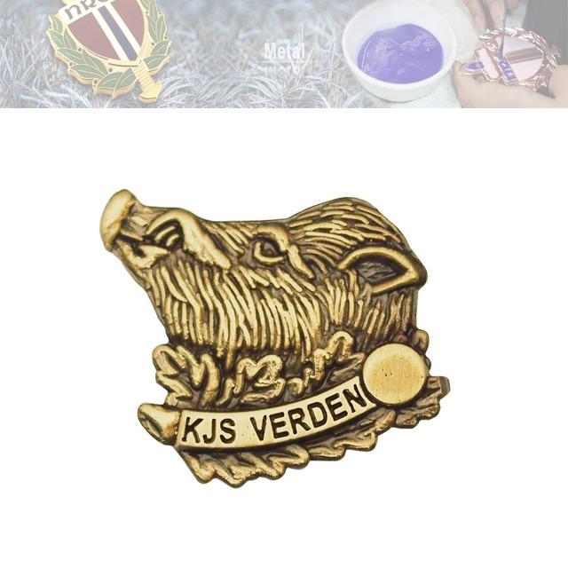 锌合金不上色徽章、动物徽章定做
