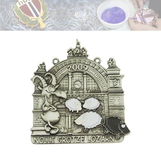锌合金烤漆徽章、城市徽章定制
