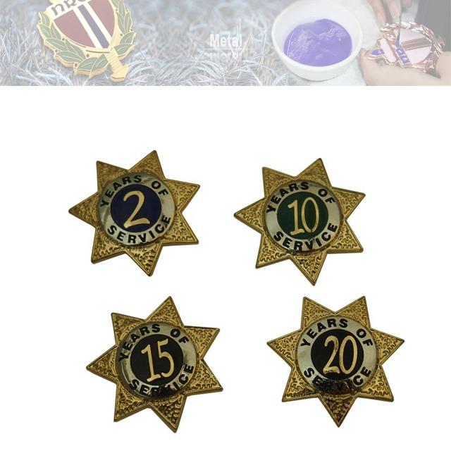锌合金假珐琅徽章,企业徽章、周年纪念徽章定制